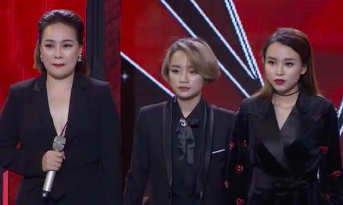 Ba thí sinh Minh Ngọc, Gia Nghi, Phương Thảo (từ trái sang).