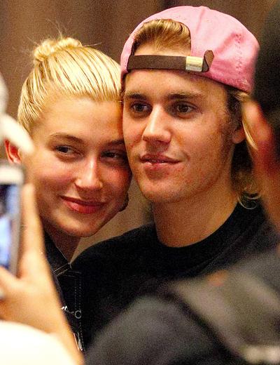 Justin Bieber và Hailey Baldwin bên nhau hồi đầu tháng 7. Ảnh: Mega.