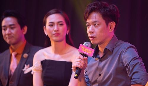Từ trái sang: Hứa Vĩ Văn, Phương Anh Đào, Thái Hòa.