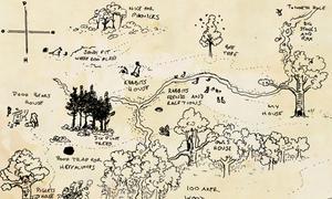 Bản đồ trong truyện gấu Pooh bị thất lạc gần 50 năm được đấu giá