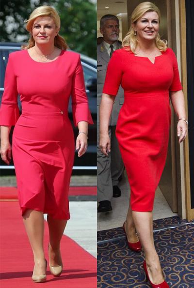 Bà cũng thích các mẫu váy màu nổi có độ ôm vừa phải, chiết eo cao. Trang phụcgiúp tôn lên làn da trắng của nữ tổng thống.