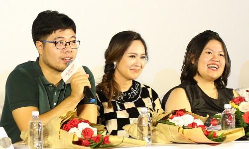 Từ trái sang: Đinh Tuấn Vũ, Thanh Thúy, Kay Nguyễn.