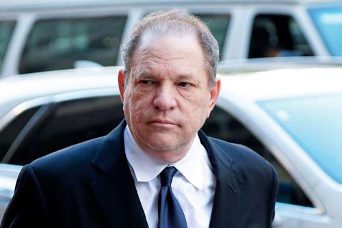 Harvey Weinstein tới toà hồi tháng 5. Ảnh: Rex.