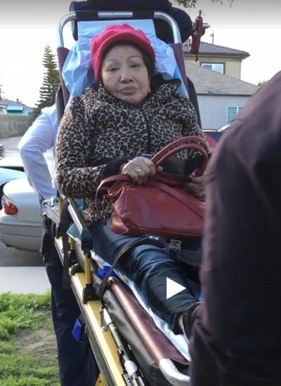 Hồng Nga phải cấp cứu vì tai nạn ôtô ở Mỹ đầu năm ngoái.