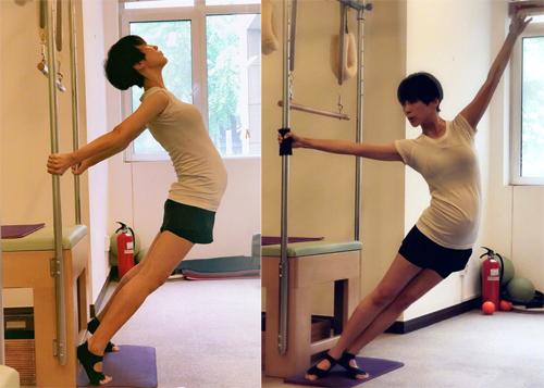 Tạ Nam kiên trì luyện yoga.