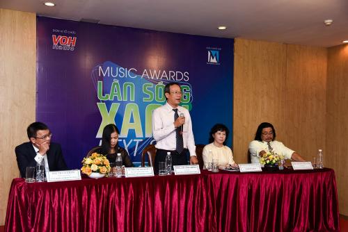 Ông Lê Công Đồng - Giám đốc Đài Tiếng nói nhân dân TP HCM(VOH) phát biểu trong buổi họp báo.