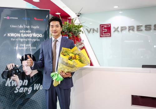 Kwon Sang Woo tại tòa soạn VnExpress.