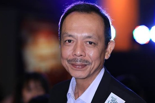 Nghệ sĩ Thanh Hoàng trong lần ra mắt phim Dạ cổ hoài lang - chuyển thể từ vở kịch nổi tiếng do ông viết.