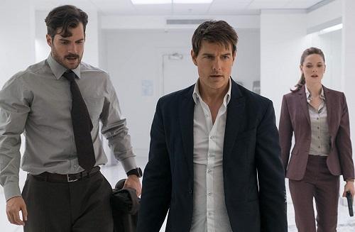 Henry Cavill (trái), Tom Cruise (giữa) vàRebecca Ferguson thủ vai các điệp viên nổi bật nhất phim.