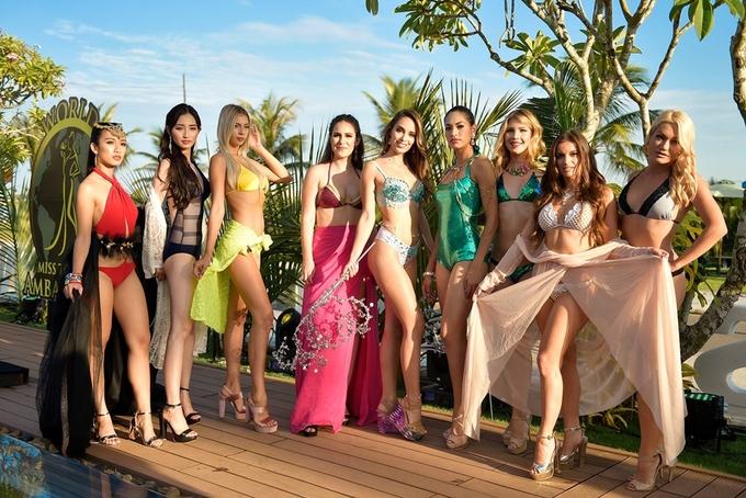Phan Thị Mơ thi bikini cùng các người đẹp quốc tế ở Hội An
