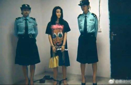 Bức ảnh được chú thích Phạm Băng Băng bị bắt lan truyền trên mạng xã hội nhưng nhiều khán giả phân tích đây là ảnh photoshop.