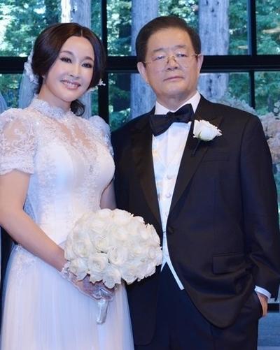 Lưu Hiểu Khánh - Vương Hiểu Ngọc ngày cưới.