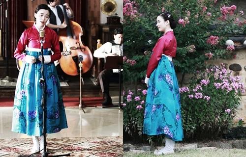 Han Hyo Joo nổi bật khi diện hanbok truyền thống - 11