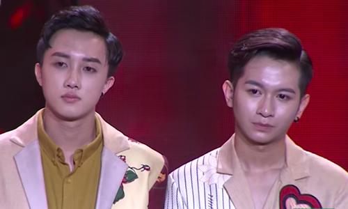 Đức Tâm (trái) và Hoàng Dương. Hoàng Dương từng tham gia Giọng hát Việt nhí 2013.