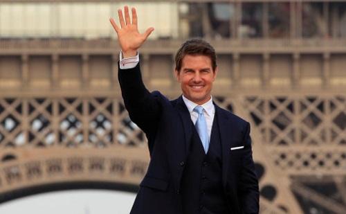 Tom Cruise ở buổi ra mắt Mission: Impossible 6 tại Paris (Pháp) hồi tháng 7.