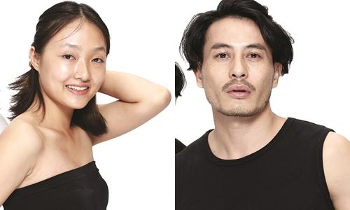 Linh Khiếu và nhà thiết kế Trương Thanh Long.