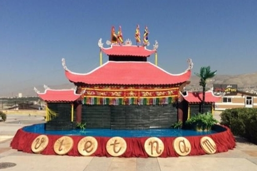 Một mô hình sân khấu rối nước dự kiến ở phố