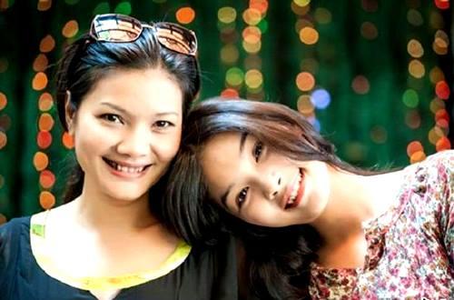 diễn viên Thanh Tú và diễn viên kiều Trinh
