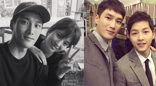 Ahn Bo Hyun selfie cùng Song Hye Kyo và Song Joong Ki (phải).