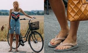 Tín đồ đua nhau xỏ dép tông đi xem tuần thời trang Copenhagen