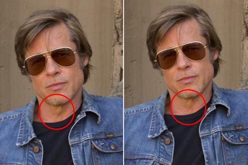 Brad Pitt được là phần cổ.
