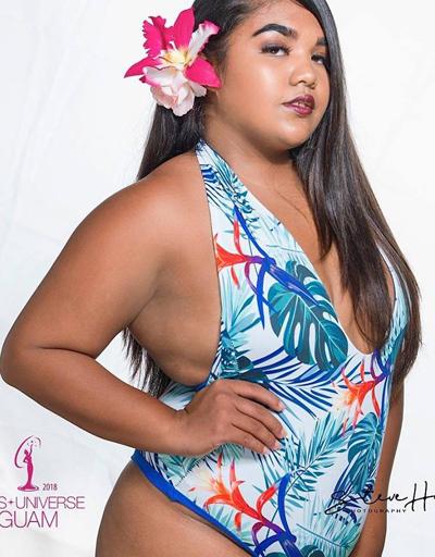 Thí sinh Hoa hậu Hoàn vũ Guam gây bàn tán vì quá béo - ảnh 1