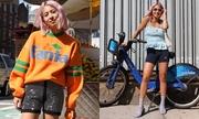 Các cách phối đồ với mốt quần đạp xe