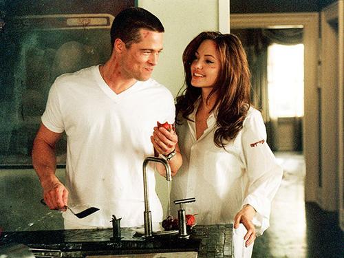 Cặp sao gặp nhau khi đóng phim Mr. & Mrs. Smith. Ảnh: 20th Century Fox.