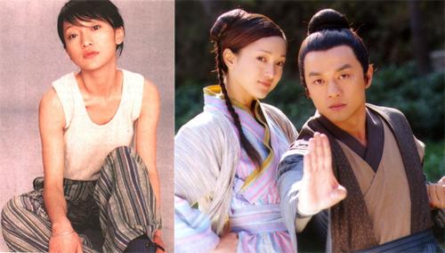 Người đẹp thời đóng Hoàng Dung trong Anh hùng xạ điêu, cùng Lý Á Bằng.