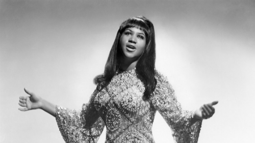Aretha Franklin khi còn trẻ.