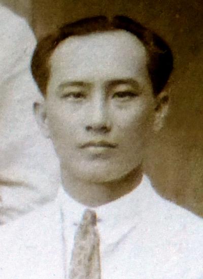 Chân dung họa sĩ Thang Trần Phềnh thời trẻ.