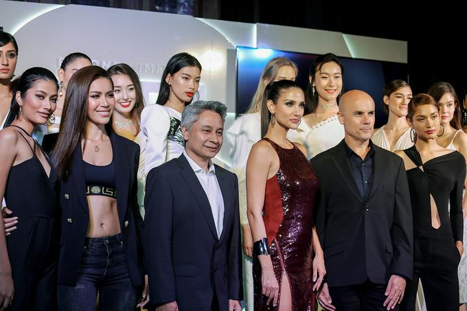 Minh Tú mặc gợi cảm dự buổi ra mắt Asia's Next Top Model
