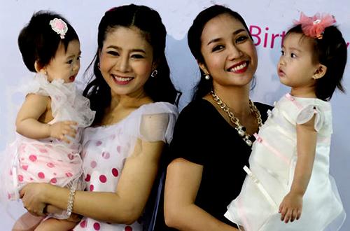 Ốc Thanh Vân trong tiệc thôi nôi con gái Mai Phương năm 2014.