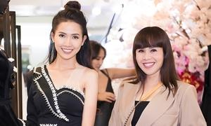 Hằng Nguyễn tặng váy cho Phan Thị Mơ và người đẹp quốc tế