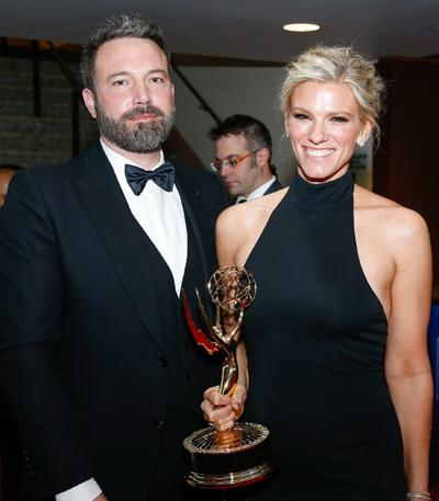 Ben Affleck và Lindsay Shookus khi còn bên nhau. Ảnh: AP.