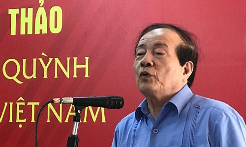 Nhà thơ Hữu Thỉnh - một trong những người thân thiết với gia đình Lưu Quang Vũ.