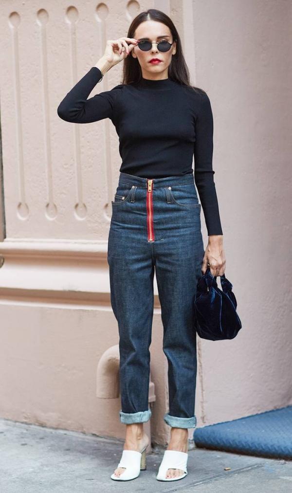 Những cách kết hợp quần jeans thu 2018