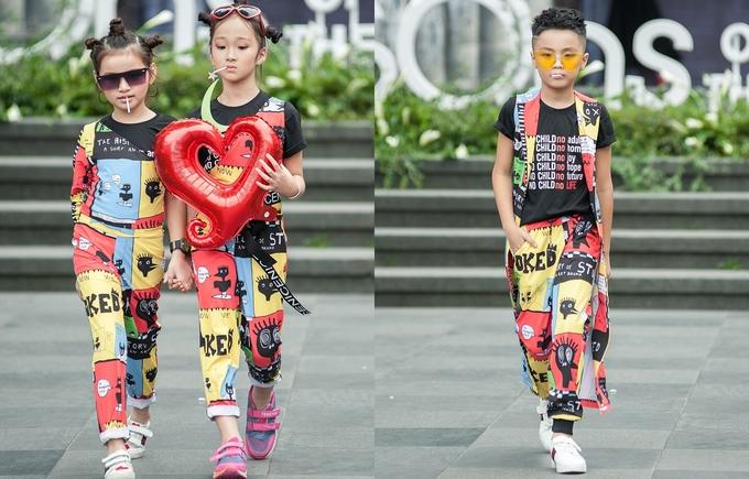 Người mẫu 13 tuổi cao 1,72 m catwalk trên núi