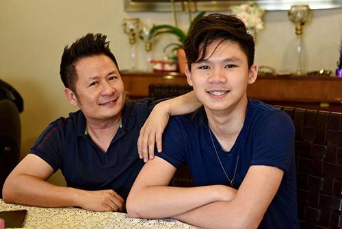 Bằng Kiều và con trai lớn - Beckam Nguyễn.