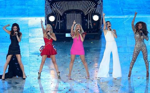 Spice Girls biểu diễn tại London năm 2012. Ảnh: PA.