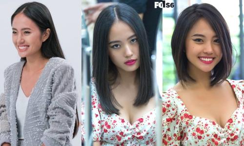 Thanh Vy trước và sau khi thay đổi diện mạo hai lần.