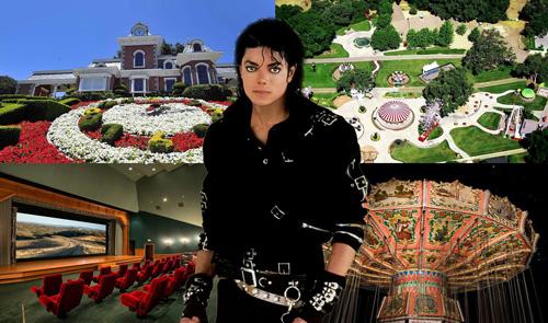 Năm 1987, Michael Jackson mua đất và xây dựng Neverland tại California. Đây là nơi bố con danh ca sống cho tới khi ông qua đời năm 2009. Khu biệt thự có đầy đủ mọi thứ, từ sở thú, công viên, vòng quay ngựa gỗ, khu vui chơi trẻ em, đường tàu lượn, xe bí ngô...