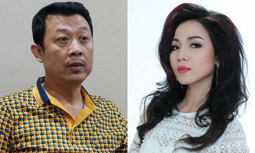 Nghệ sĩ hài Vân Sơn (trái) và ca sĩ Khánh Loan.
