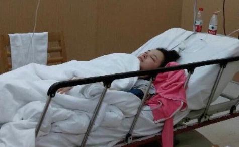 Lưu Vũ Hân trong bệnh viện.