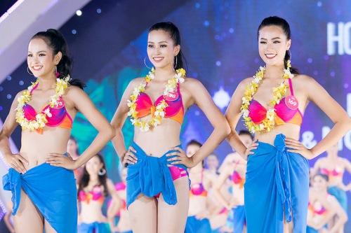 Chưa tự tin về hình thể nhưng Bảo Châu vẫn vào top 3 phần thi phụ Người đẹp biển.