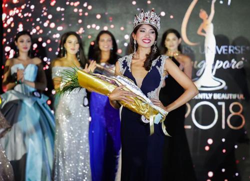 Zahra Khanum vượt qua 14 người đẹp, trở thành đại diện của Singapore tại Miss Universe 2018 tổ chức tại Thái Lan cuối năm nay.