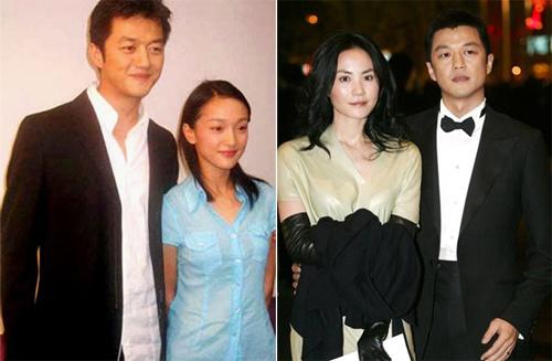 Chuyện tình của Lý Á Bằng với Châu Tấn (trái) và Vương Phi tốn giấy mực của báo giới Hoa ngữ.