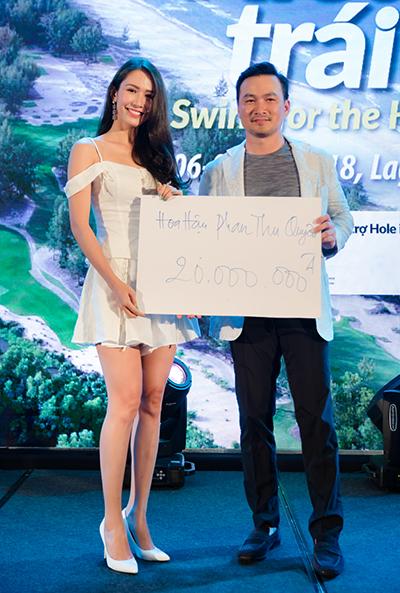 Hoa hậu Phan Thu Quyên quyên góp 20 triệu đồng. Kết thúc buổi tiệc, Chi Bảo vui mừng thông báo rằng, ngoài số tiền thu được từ đấu giá từ thiện, chương trình còn được nhiều doanh nhân, nghệ sĩ ủng hộ bằng tiền mặt. Tổng cộng, Quỹ Hiểu về trái tim đã quyên được 1,4 tỷ đồng