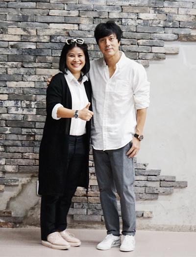 Tài tử Han Jae Suk và nhà sản xuất Nguyễn Hoàng Hạnh Nhân.