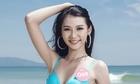 Người đẹp Hoa hậu Việt Nam mặc bikini tạo dáng trước biển